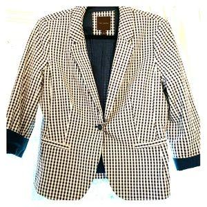 Blue and white checkered blazer!